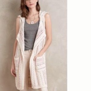 NWOT Anthropologie willow&clay sz XS/S hooded vest